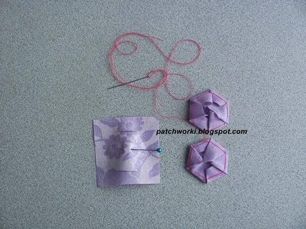 Пэчворк. Создание и сшивание шестиугольников для пледа. Мастер-класс (31) (600x450, 275Kb)
