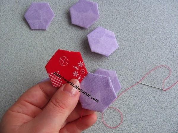 Пэчворк. Создание и сшивание шестиугольников для пледа. Мастер-класс (37) (600x450, 233Kb)