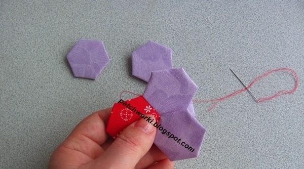 Пэчворк. Создание и сшивание шестиугольников для пледа. Мастер-класс (39) (600x334, 182Kb)