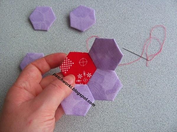 Пэчворк. Создание и сшивание шестиугольников для пледа. Мастер-класс (41) (600x450, 245Kb)