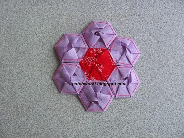 Пэчворк. Создание и сшивание шестиугольников для пледа. Мастер-класс (43) (600x450, 291Kb)