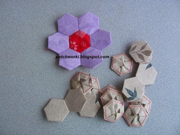 Пэчворк. Создание и сшивание шестиугольников для пледа. Мастер-класс (45) (600x450, 258Kb)