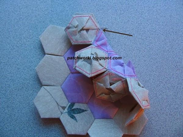 Пэчворк. Создание и сшивание шестиугольников для пледа. Мастер-класс (49) (600x450, 227Kb)