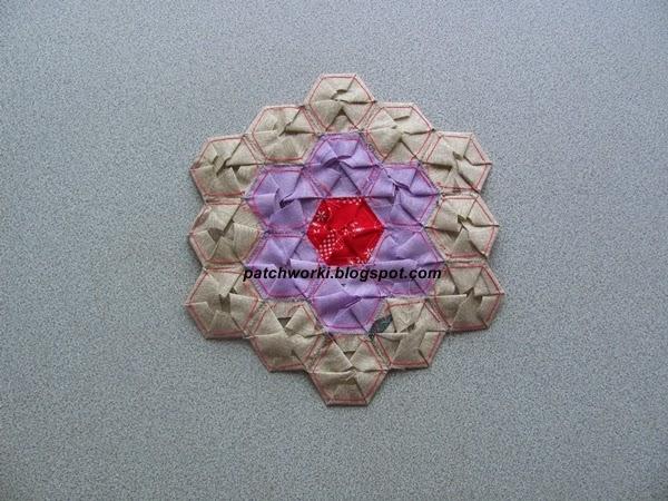 Пэчворк. Создание и сшивание шестиугольников для пледа. Мастер-класс (51) (600x450, 272Kb)