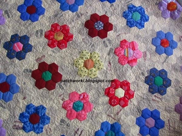 Пэчворк. Создание и сшивание шестиугольников для пледа. Мастер-класс (53) (600x450, 334Kb)