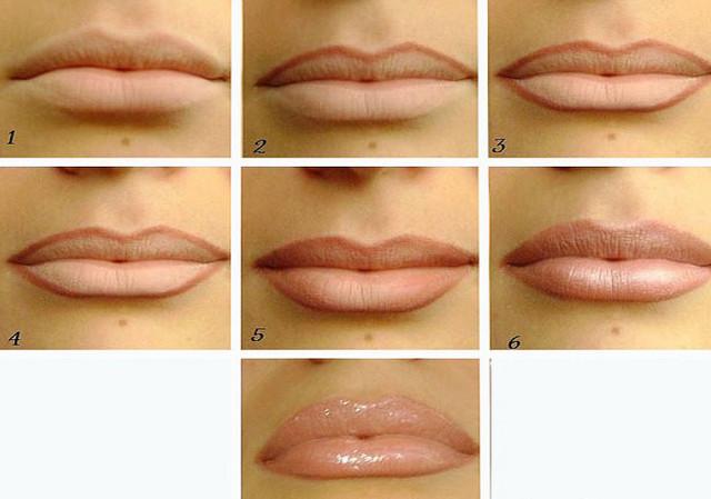 Как сделать татуаж губ светлее