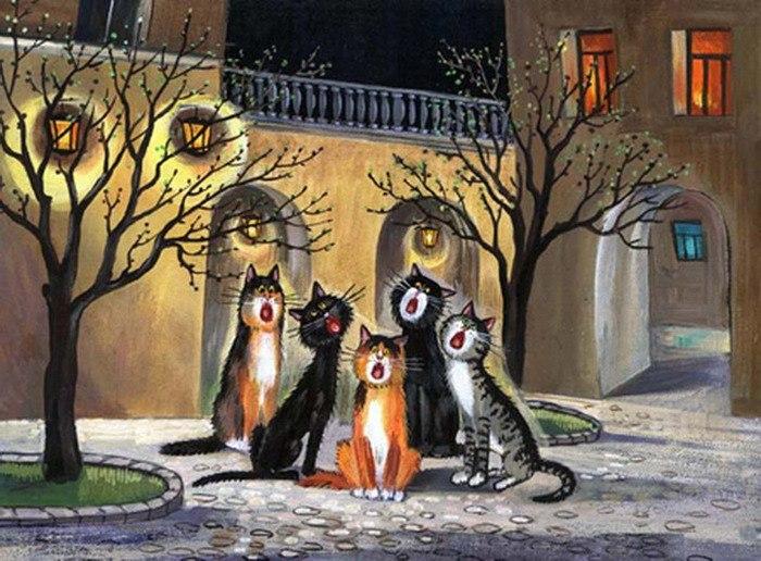 коты поют серенады (700x516, 107Kb)