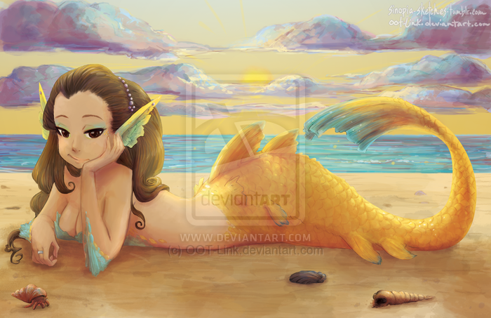 sunset_mermaid_by_oot_link-d5ywnjo (700x453, 420Kb)