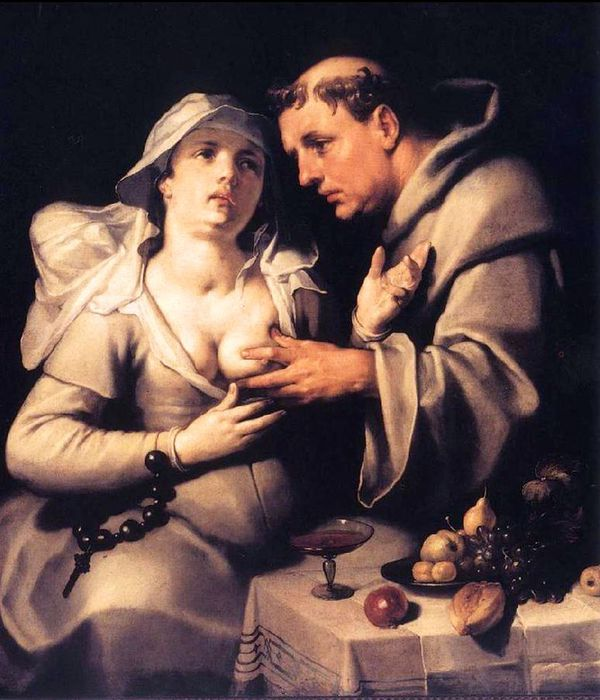 1Cornelis van Haarlem.Monk And Nun , 1591 (600x700, 71Kb)