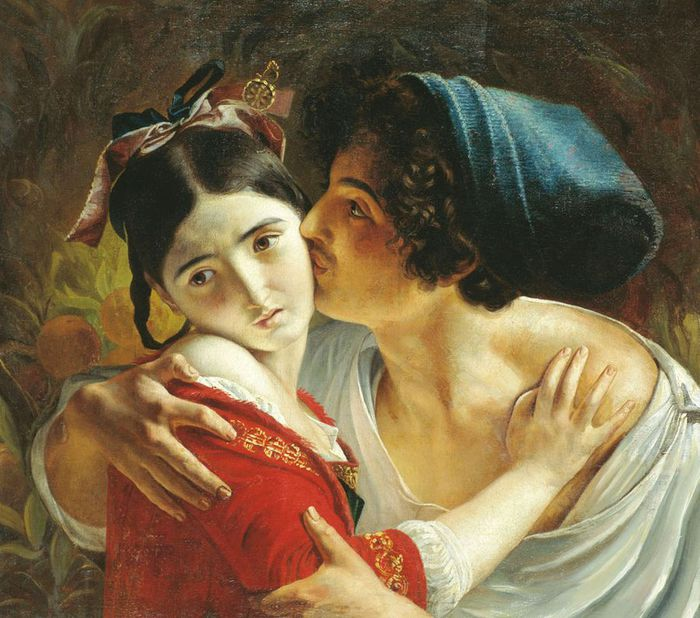 1Fedor Antonovich Moller.The Kiss , 1840 (700x618, 83Kb)
