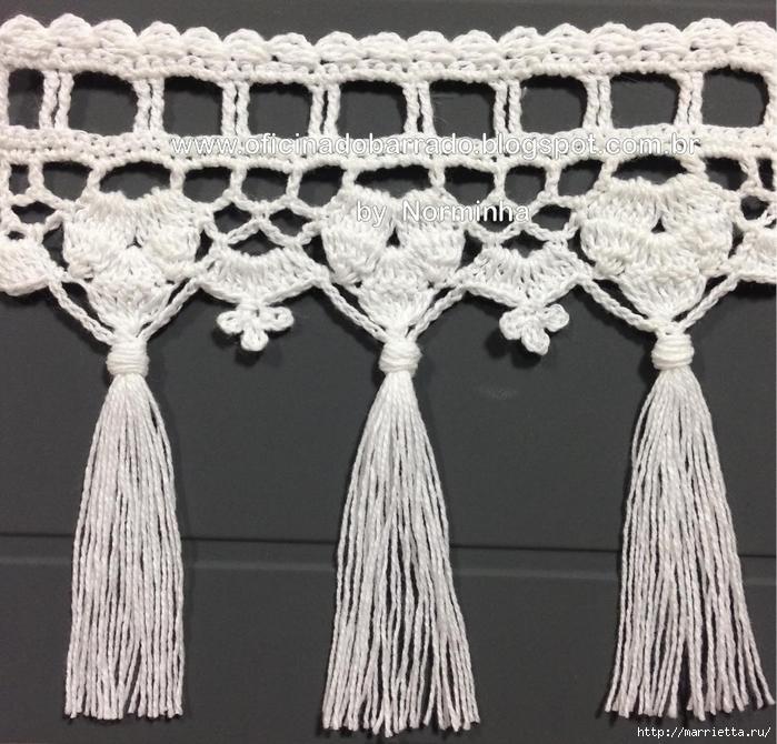 Обвязка крючком для полотенца. Схемы (6) (700x670, 345Kb)