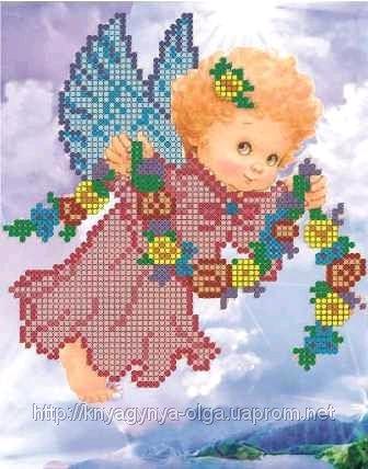 ангел с венком (336x428, 205Kb)