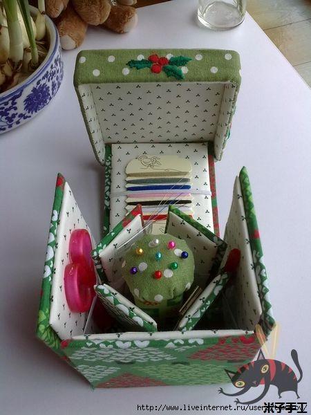 Коробочка своими руками для швейных принадлежностей