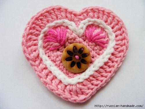 Как связать валентинку крючком. Фото мастер-класс (30) (500x375, 155Kb)