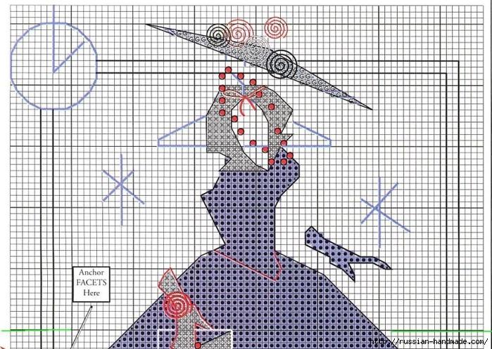 Вышивка крестом. Дамочки в платьях (8) (700x497, 366Kb)