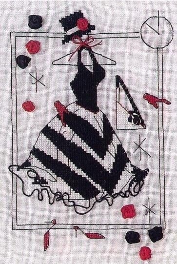 Вышивка крестом. Дамочки в платьях (10) (363x541, 247Kb)