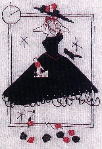 Вышивка крестом. Дамочки в платьях (12) (359x526, 196Kb)