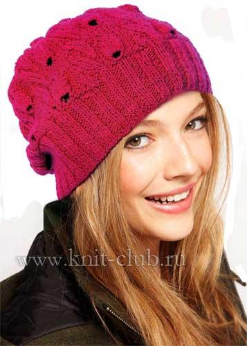 Размер вязаной шапки: 56-57