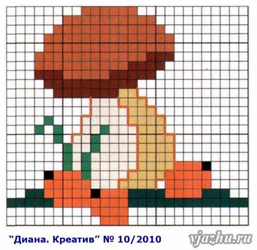 shema-vyishivki-podberezovikov (500x487, 220Kb)