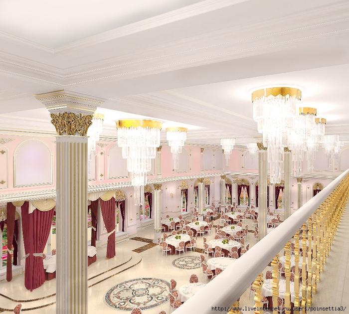 Банкетный зал вид с балкона (700x630, 363Kb)