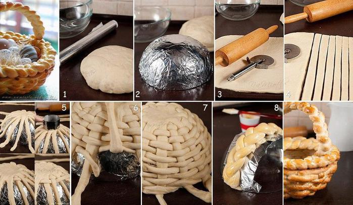 Как сделать пирожное корзинка в домашних условиях видео