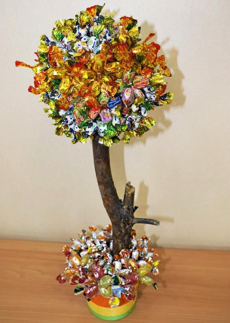 Как сделать конфетное дерево