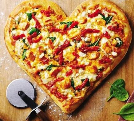 Сердечная пицца