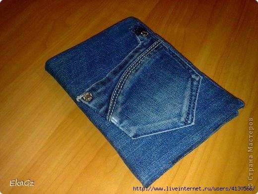 Сшить чехол на планшет из джинс фото 738