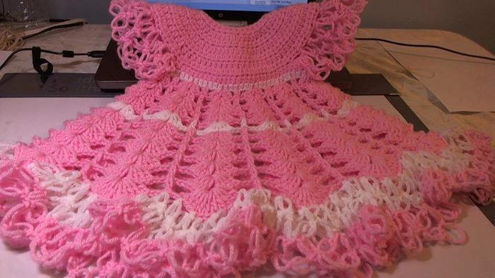 Видеоурок по вязанию платья для девочки 462