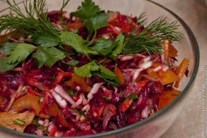 Овощной китайский салат без майонеза