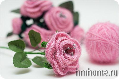 Вязание крючком роза чайная