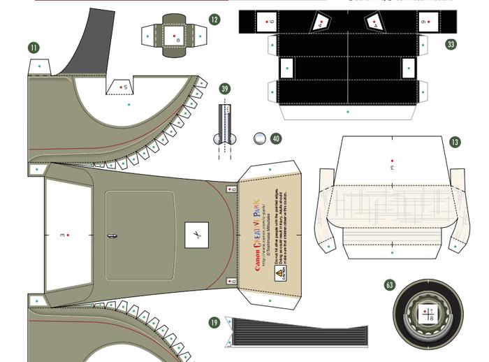 Кабриолет Ford из бумаги. Готовые шаблоны для распечатки (3) (700x518, 169Kb)