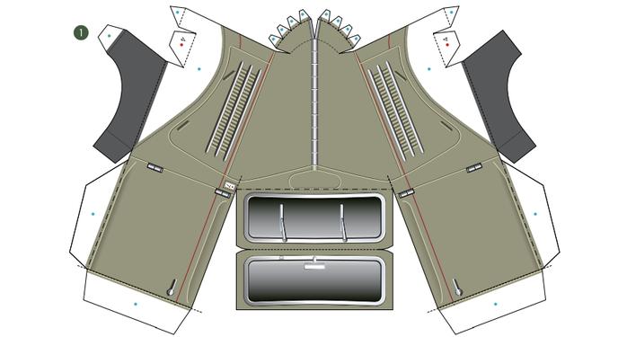 Кабриолет Ford из бумаги. Готовые шаблоны для распечатки (5) (700x375, 137Kb)