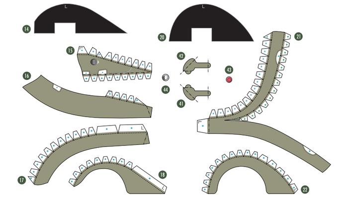 Кабриолет Ford из бумаги. Готовые шаблоны для распечатки (7) (700x399, 121Kb)