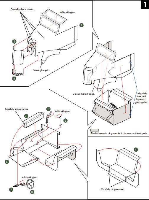 Кабриолет Ford из бумаги. Готовые шаблоны для распечатки (12) (504x674, 105Kb)