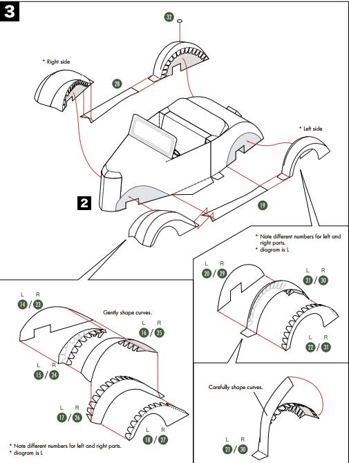 Кабриолет Ford из бумаги. Готовые шаблоны для распечатки (14) (505x670, 94Kb)
