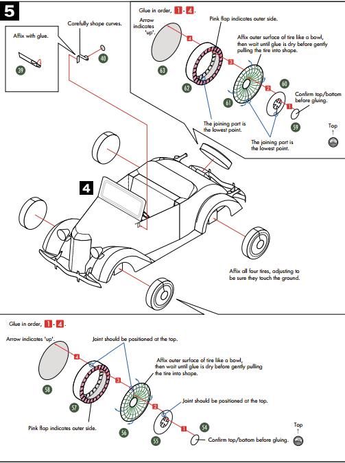 Кабриолет Ford из бумаги. Готовые шаблоны для распечатки (16) (503x675, 108Kb)