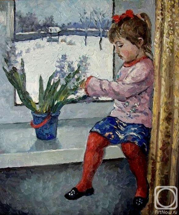 Анна Ягужинская Девочка у окна. 2011 г. (2) (584x700, 91Kb)