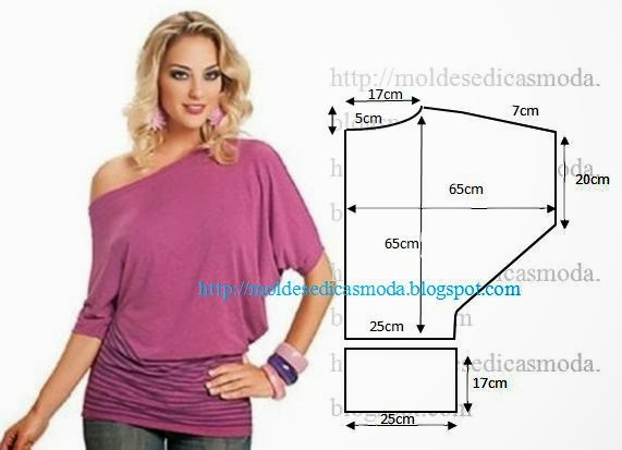Блуза из трикотажа своими руками