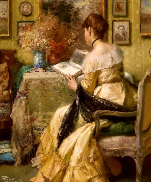 4Fernand Toussaint - Afternoon reading (579x700, 89Kb)