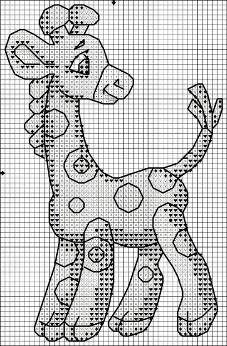 Вышивка крестом жирафов бесплатно