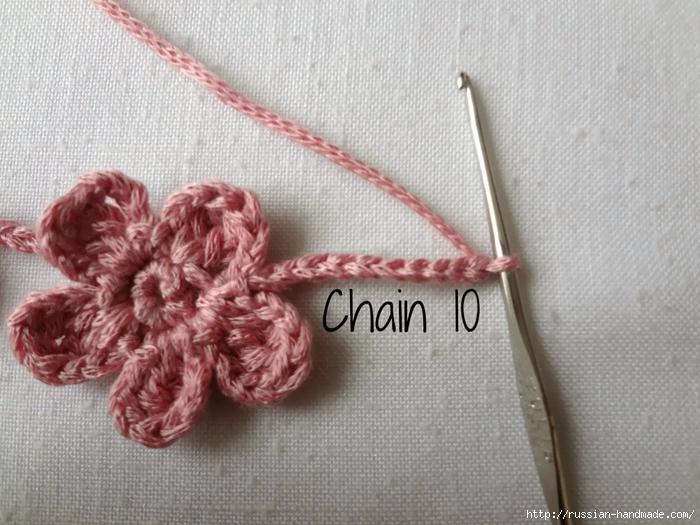 Вязание крючком. Маленькие цветочки для украшения волос (3) (700x525, 284Kb)