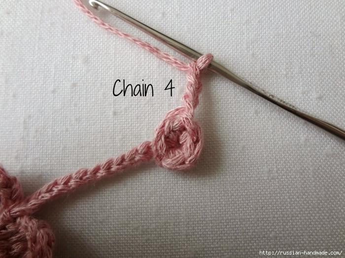 Вязание крючком. Маленькие цветочки для украшения волос (9) (700x525, 269Kb)
