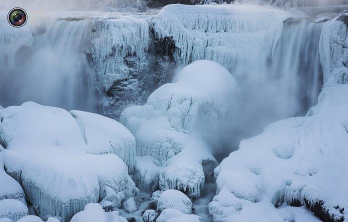 ниагарский водопад замерз фото 1 (700x446, 266Kb)