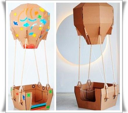 Как сделать воздушный шар дом