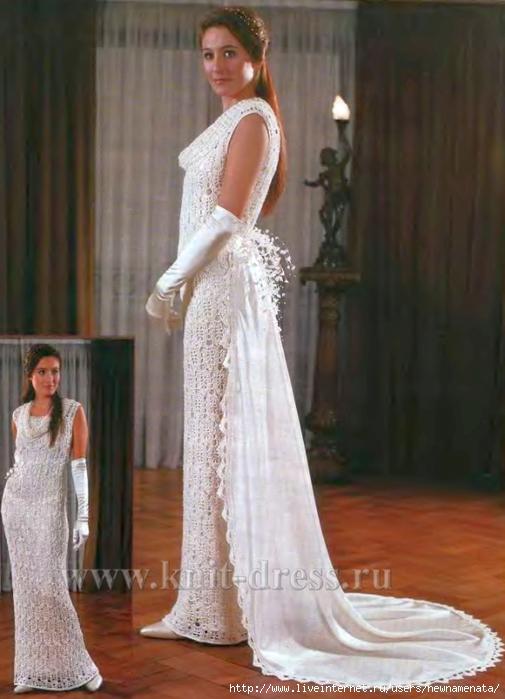 Свадебные платья, связанные