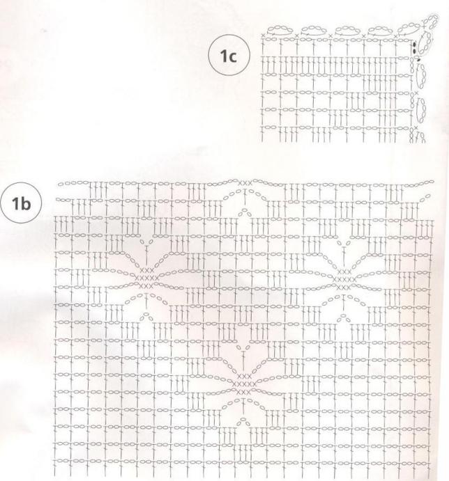 Вязание крючком. Скатерти и бабочки для украшения. Схемы (4) (644x691, 450Kb)