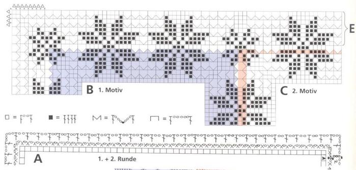 Вязание крючком. Скатерти и бабочки для украшения. Схемы (6) (700x335, 235Kb)