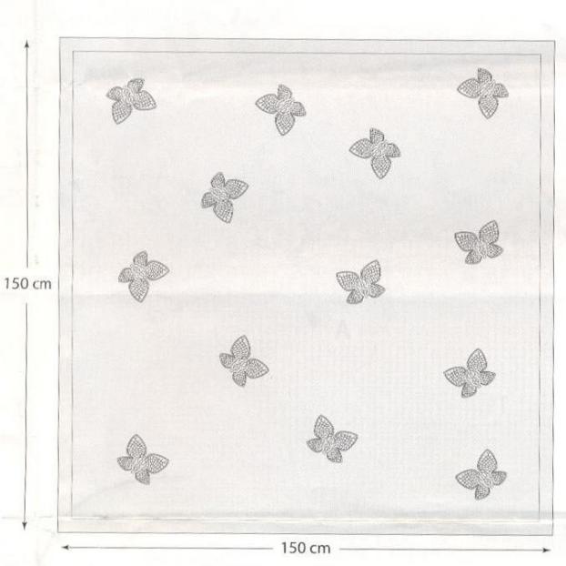 Вязание крючком. Скатерти и бабочки для украшения. Схемы (10) (622x622, 324Kb)