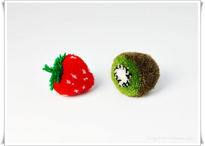 """手工制作教程:"""" 水果绒球 """"(可钉在鞋面上) - maomao - 我随心动"""